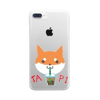 タピ柴さん(赤柴) Clear smartphone cases