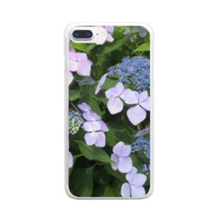 ハイドランジア模様 Clear smartphone cases