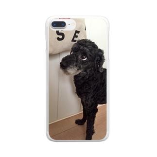 よそ見小力 Clear smartphone cases