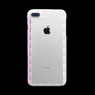 つちのこのチェックフレーム 華 Clear smartphone cases