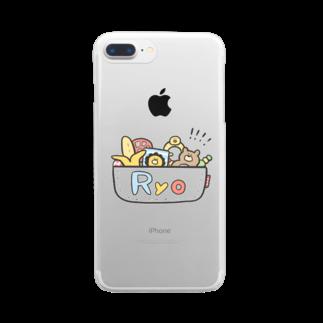 ゆゆ丸のりょう◎ Clear smartphone cases