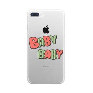スイカ Clear smartphone cases