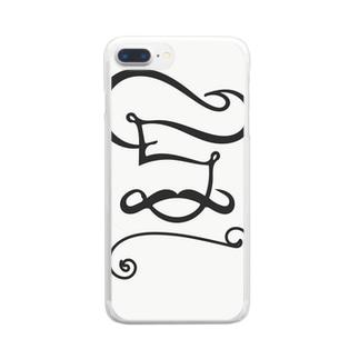 ヒゲ男爵 Clear smartphone cases