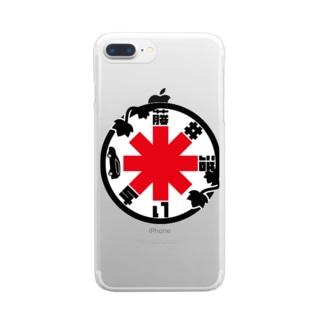パ紋No.3379 藤井 Clear smartphone cases