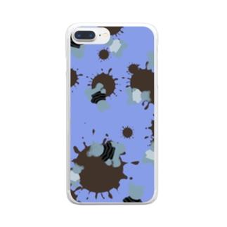 blueberry choco kuma Clear smartphone cases