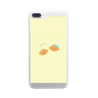 トイプードル犬【ロティ】iphoneアイフォンケースイエロー Clear smartphone cases