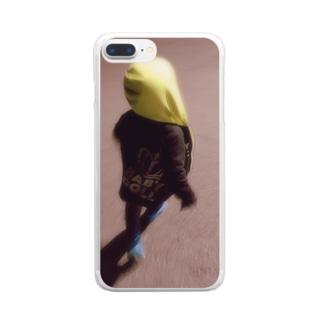らいちゃん Clear smartphone cases