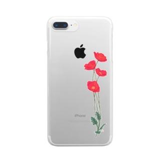 憂いに手向けるポピー Clear smartphone cases