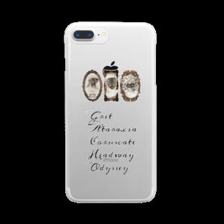 我=蝶 GACHOの我=蝶 Clear smartphone cases