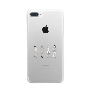 ファッションスナップ・ガール01ベージュ Clear smartphone cases