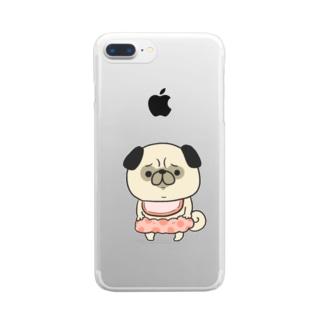 ぱぐちゃん1歳 Clear smartphone cases