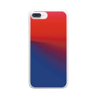 イカしたグラデ Clear smartphone cases