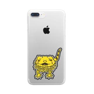 のんびりイラストグッズ Clear smartphone cases