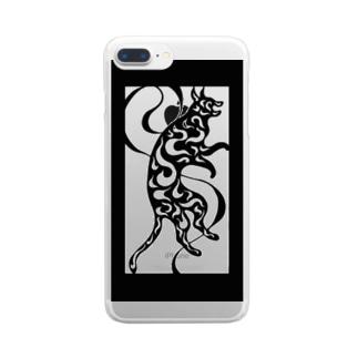 うずまき猫 Clear smartphone cases