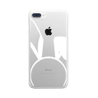 バニーB白 Clear smartphone cases