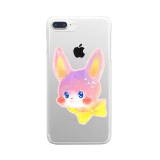 リボンうさぎ Clear smartphone cases