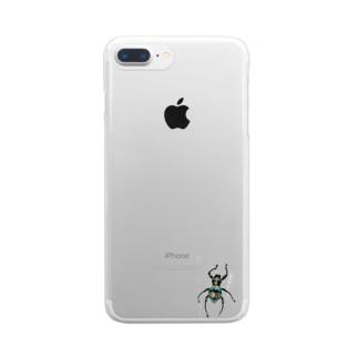 美麗なカタゾウその2 Clear smartphone cases