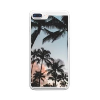 マイアミサンセット Clear smartphone cases