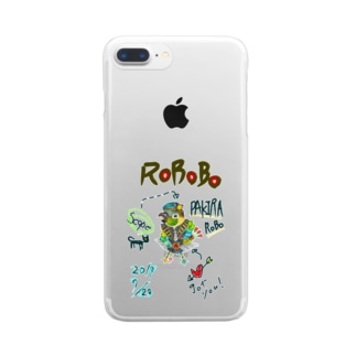 ROBOBO 「パキラロボ」 Clear smartphone cases