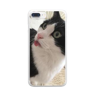 したがでてるちぢみ Clear smartphone cases