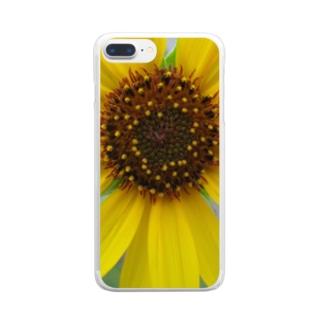 太陽とお友達!! Clear smartphone cases