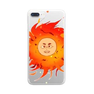 太陽系男子 Clear smartphone cases