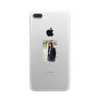 かわいい女子高生 Clear smartphone cases