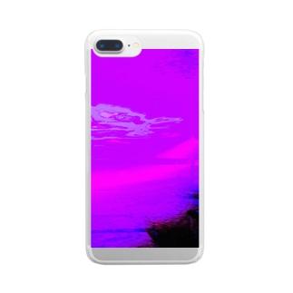 今日の気配は、朝もやの中に。 Clear smartphone cases