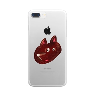 HEY BEAR FACE Clear smartphone cases