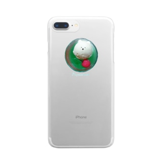 上からクリームソーダ Clear smartphone cases