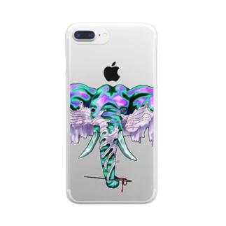 ゾウとヌノ Clear smartphone cases