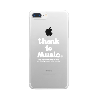 honneのthank to music Clear smartphone cases