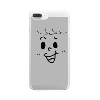 グレーなオトコノコ Clear smartphone cases