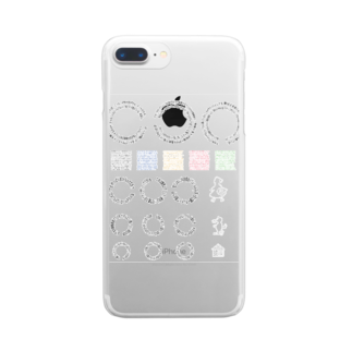 miu8080のグリーンは目にいい Clear smartphone cases