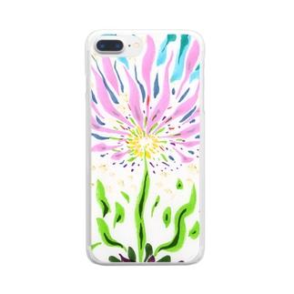 花の喜び Clear smartphone cases