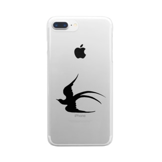 ツバメ堂のツバメの飛翔 Clear smartphone cases