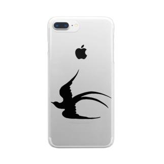 ツバメの飛翔 Clear smartphone cases