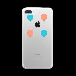 めろんそーだ。の風船 Clear smartphone cases