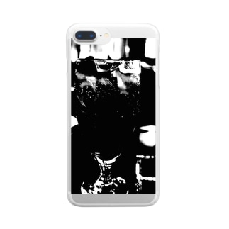 ブラック・コーク Clear Smartphone Case