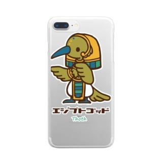 エジプトゴッドwithトート Clear smartphone cases