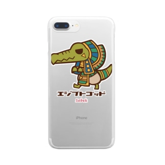 エジプトゴッドwithセベク Clear smartphone cases