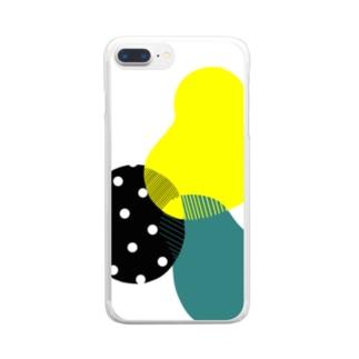 なんかそれっぽい柄 Clear smartphone cases