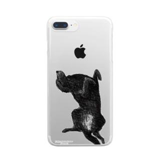 フラットコーテッドレトリバー Clear smartphone cases