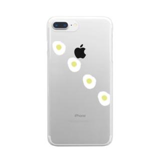 めだまやきやき Clear smartphone cases
