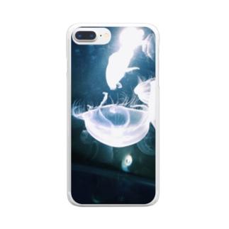 ぷかぷかくらげ Clear smartphone cases