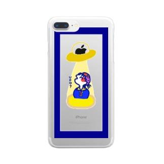 UFOにつれていかれちまう Clear smartphone cases