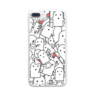 白いハニワ【うじゃうじゃ】 Clear smartphone cases