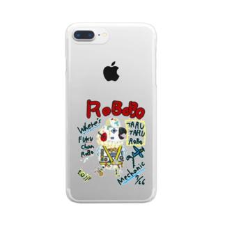 ROBOBO🤖 「たるたるロボ」 Clear smartphone cases