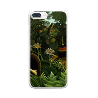 Art Baseの夢 / アンリ・ルソー(The Dream 1910) Clear smartphone cases