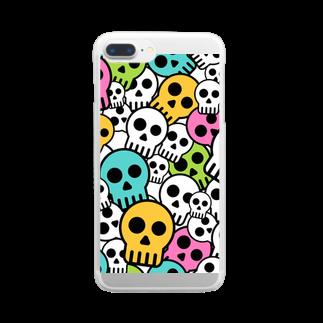 IZANAGIのシンプルドクロ~ Clear smartphone cases